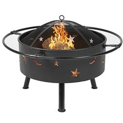 """Best Choice Products 30"""" Fire Pit cooking Grill FireBowl Out"""