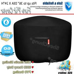 Fire Pit Cover 300D Heavy Duty Polyester&PVC Coating Premium