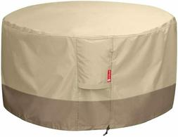 Fire Pit Cover/Table Cover Round 600D Heavy Duty Patio Fabri