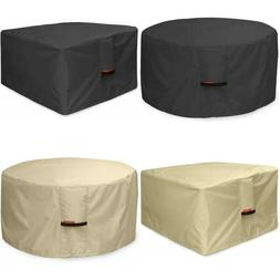 Fire Pit Cover Waterproof 600D Heavy Duty Round / Square Pat