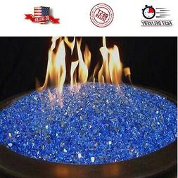 Fire Pit Glass Rocks For Outdoor Propane Gas Fireplace Blue