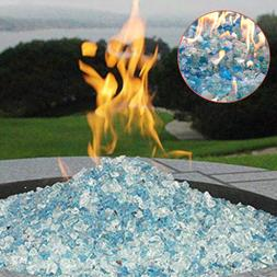Fire Pit Glass Rocks For Outdoor Propane Gas Fireplace Cryst