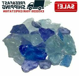 Fire Pit Glass Rocks Outdoor Propane Gas Fireplace Crystals