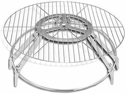 Fire Pit Grill Steel Round Outdoor Campfire Cooking BBQ Gril