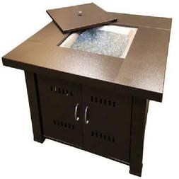 Fire Pit Hammered Bronze Finish for Outdoor Backyard Home