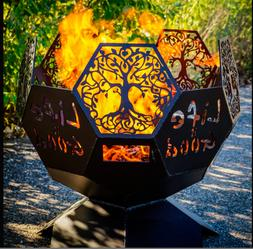 Fire Pit Life is Good/Tree of Life Geodesic Wood Burning Fir
