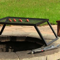 Fire Pit Steel Cooking Grill Grate Large Portable and Foldab