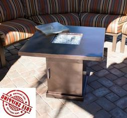 Fire Pit Table Propane Gas Outdoor Heater Fireplace Yard Pat