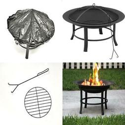 Fire Pit Wood Burning Backyard Outdoor Heater PVC Cover Log