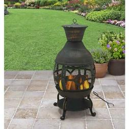 Fireplace Chiminea Cast Iron Outdoor Fire Pit Patio Heater A