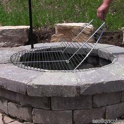 Foldable Round Chrome Plated Outdoor Fire Pit Cooking Grill