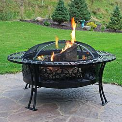 Sunnydaze 40 Inch Four Star Large Fire Pit Table with Spark