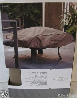 """THRESHOLD 40"""" X 40"""" HEAVY DUTY POLYESTER FIREBOWL COVER WEAT"""