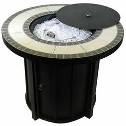 Hiland AFP-TTR Outdoor 30 In Round Tile Table Top Propane Fi
