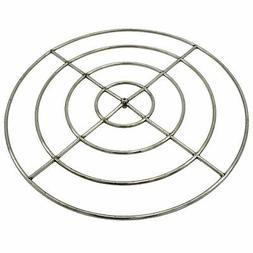 """HPC Round Stainless Steel Fire Pit Burner, 48"""", High Capacit"""