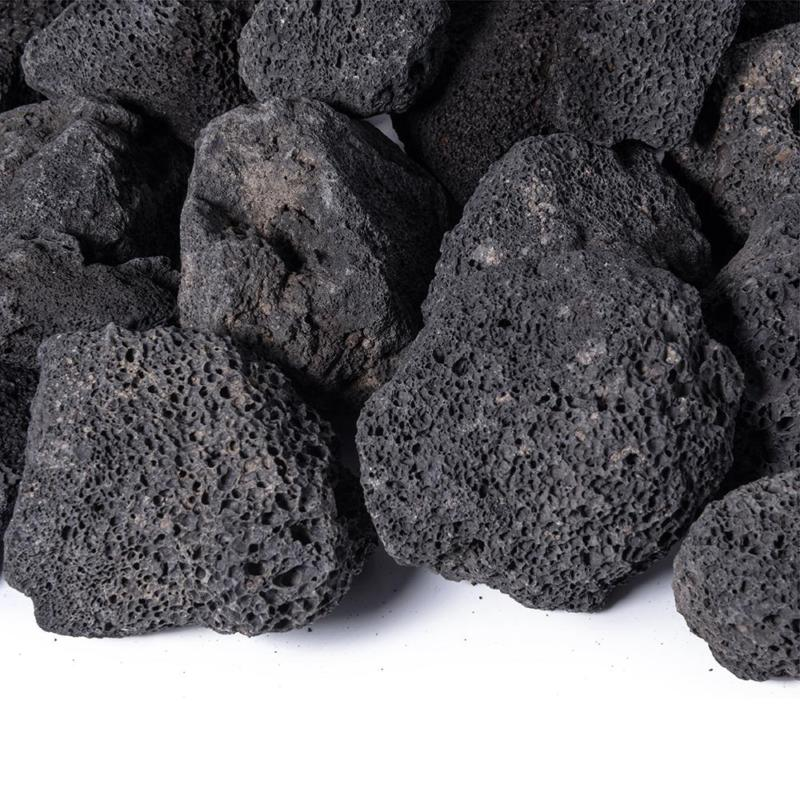 0.25 Cu. Ft. 10 Lbs. 1 In. To 3 In. Black Lava Rock