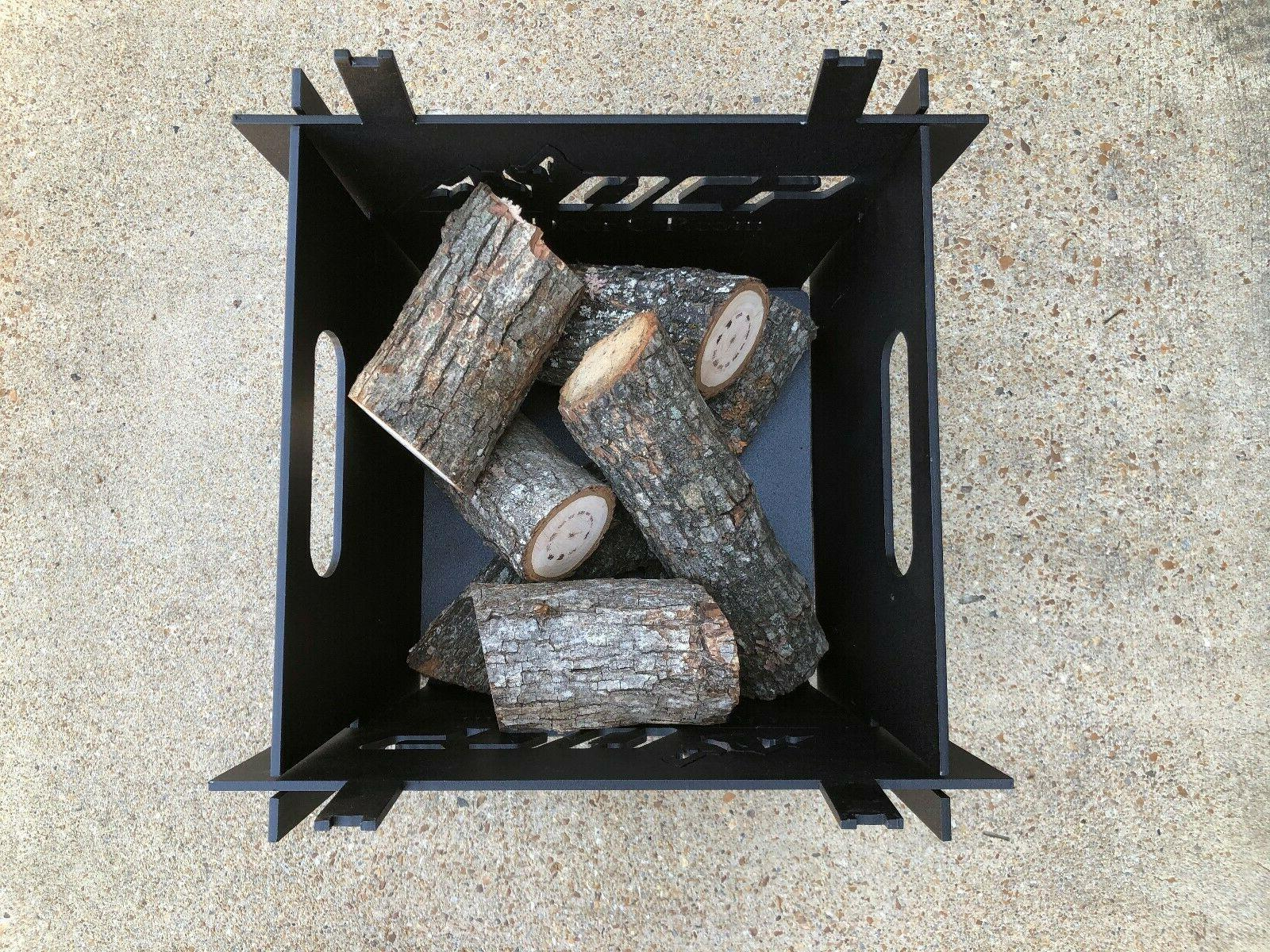 Outdoor Square Portable Camping Pit Firepit