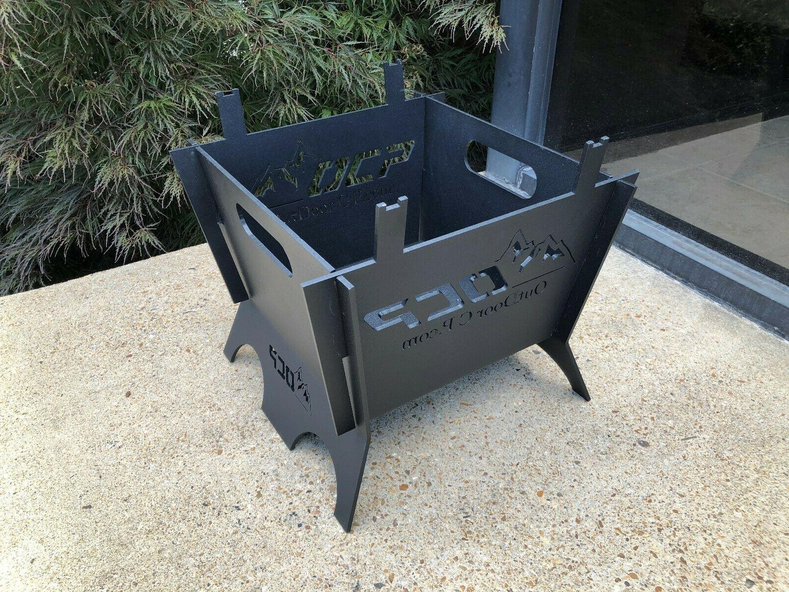 13 square portable camping fire pit modular