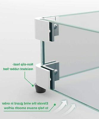 Pit Wind Clear Tempered Glass Wind Guard 5