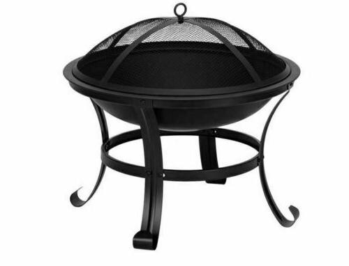 """22"""" Curved Brazier Burning Poolside"""