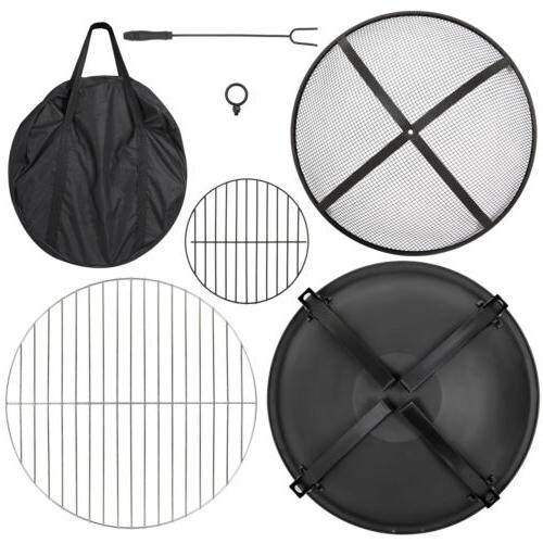 Pit Wood Outdoor Camping BBQ w/Carry Bag