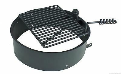 """24"""" 32"""" Fire Ring w/ Cooking Grate Pit"""