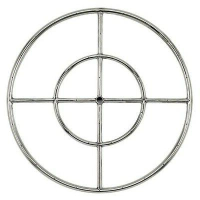 24 stainless steel fire pit gas burner