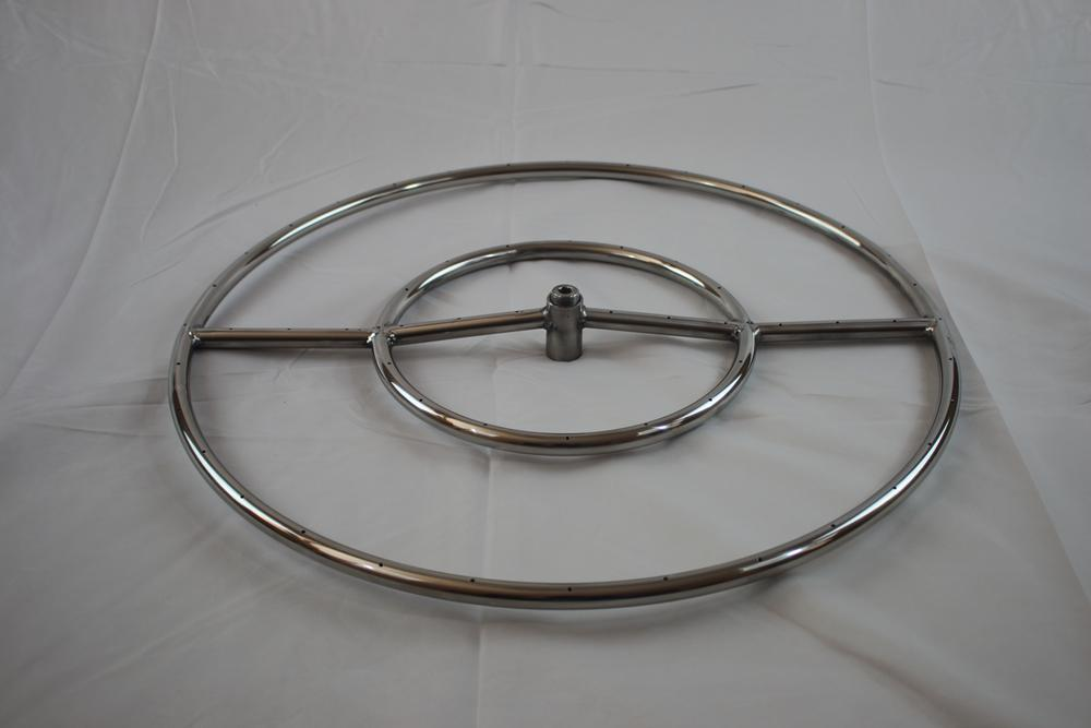 24 stainless steel round double fire pit