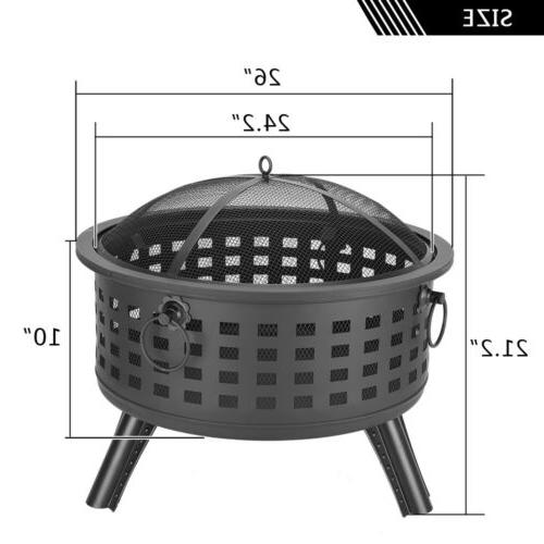 "26"" Round Bowl Grill Firepit"