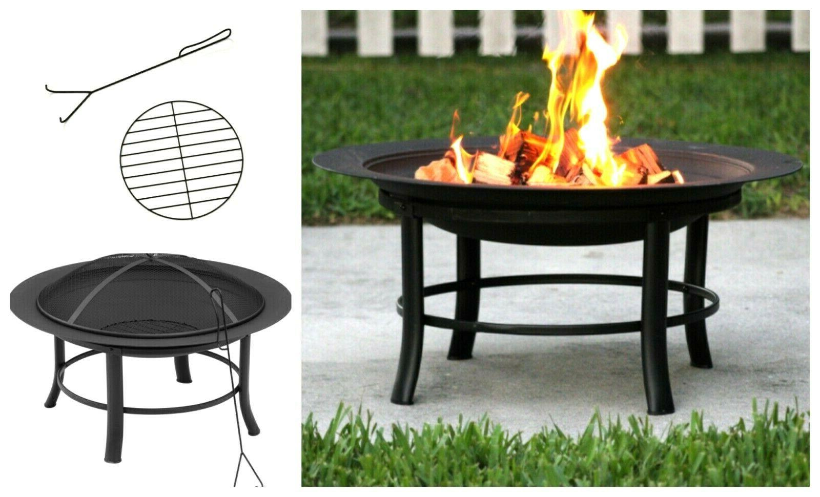 28 round patio fire pit outdoor home