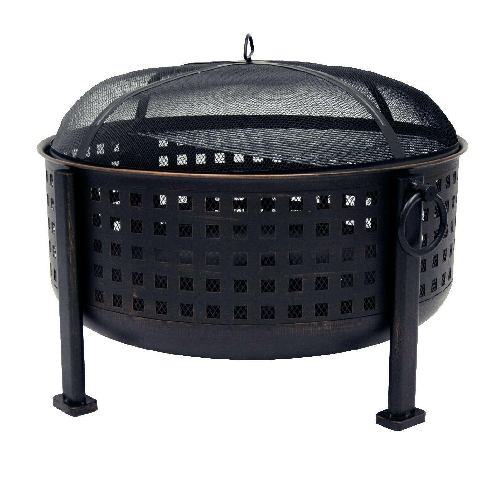 30 outdoor fire pit deep large steel