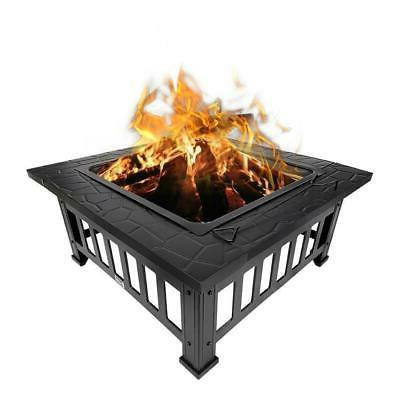 "32"" Fire Square Garden Stove Fireplace"