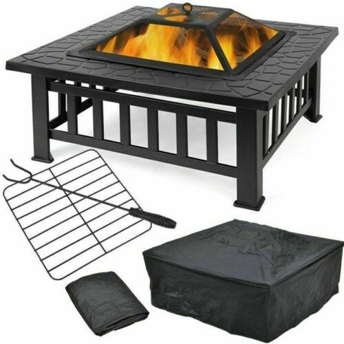 BBQ Fire Pit Heater Backyard Patio Wood Burning  Fire Pit St