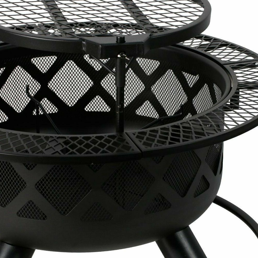 """32"""" Removable Cooking Grill Fire Pit Campfire"""