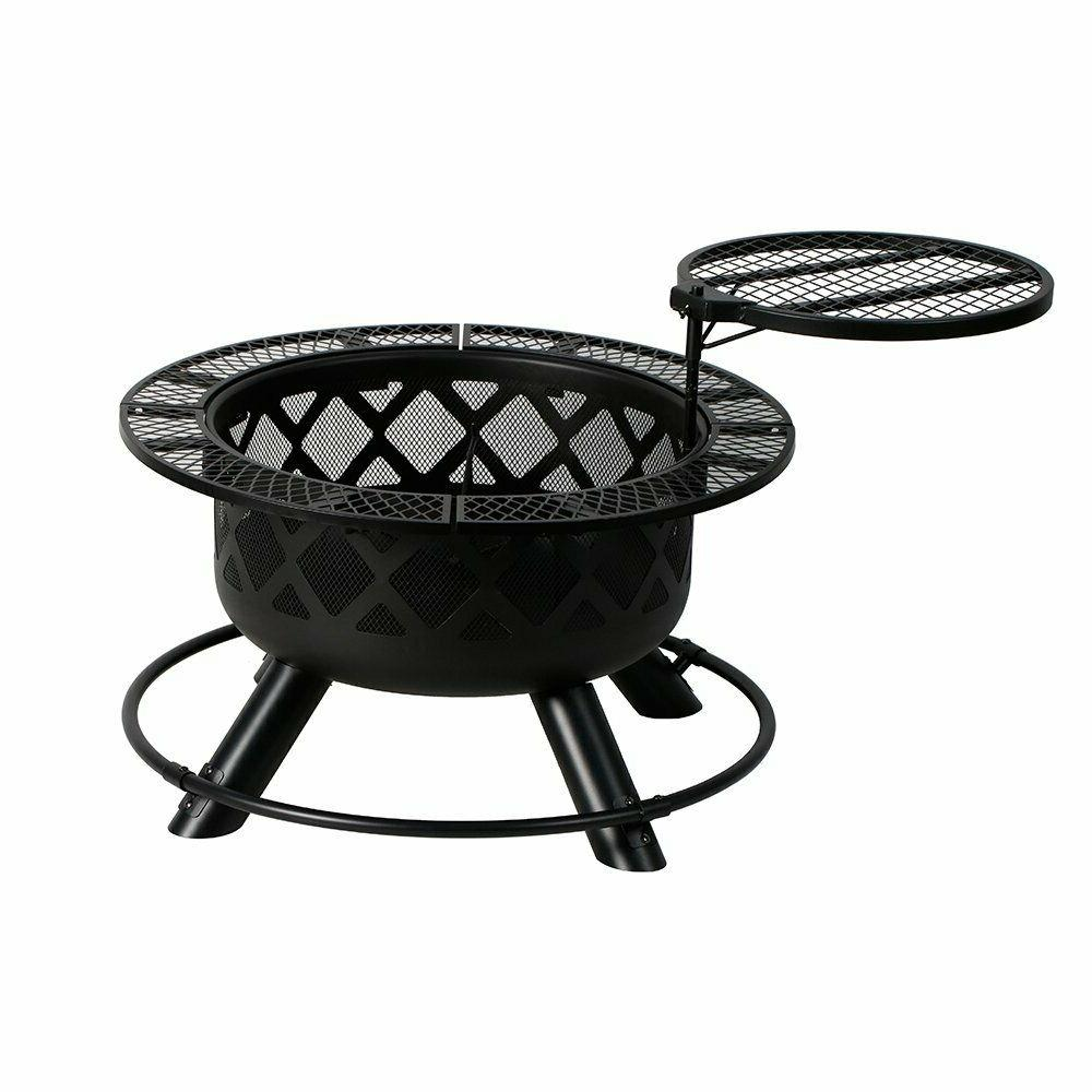 """32"""" Crossfire Fire Pit Removable Cooking Grill"""