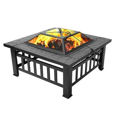 "32"" Brazier Square Burning Outdoor"