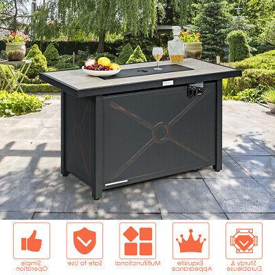 """42"""" Rectangular Fire Pit Heater Outdoor Table Cover"""