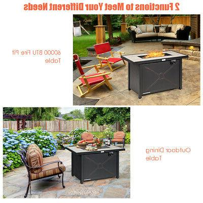 """42"""" Fire 60,000 Heater Outdoor Table Cover"""