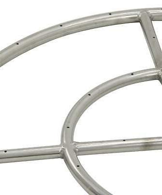 """American Round Steel Fire Pit Natural 48"""""""