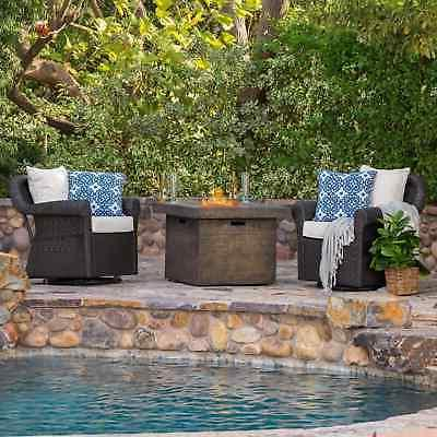 arlington outdoor 3 piece gas firepit seating