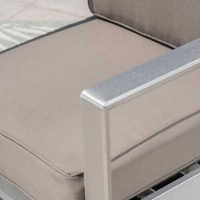 Aviara Chat Fire Pit and dark gray