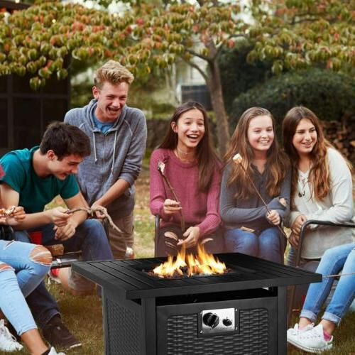 """28"""" Steel Propane Fire Pit Fireplace Patio Outdoor Gift"""