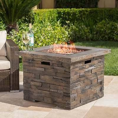 Blaeberry Outdoor Square Fire Pit by Christopher Knight Home