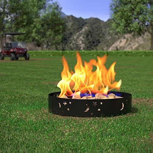 Regal Flame Backyard Garden Star and Moon Light Wood Pit Ring. RV, Camping, Fireplace. Firewood Patio Stove Firebowl Gas