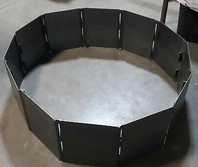 campfire fire pit ring 48 decagon blanks