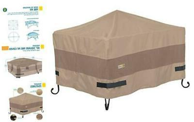 elegant water resistant 40 inch square fire