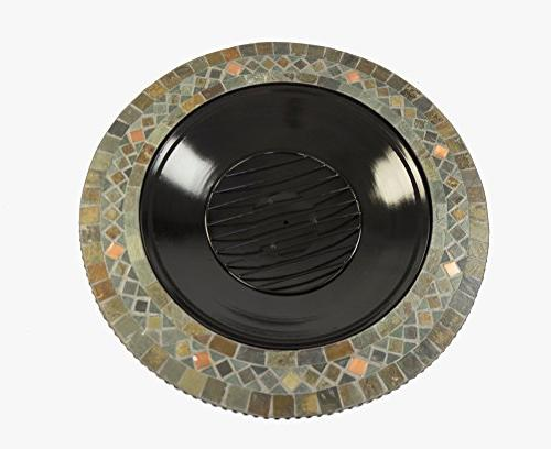 Pleasant Hearth Slate Top 34-Inch Pit