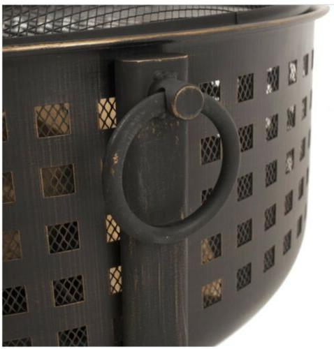 Extra Ring Outdoor Grill Grid Bronze Pit