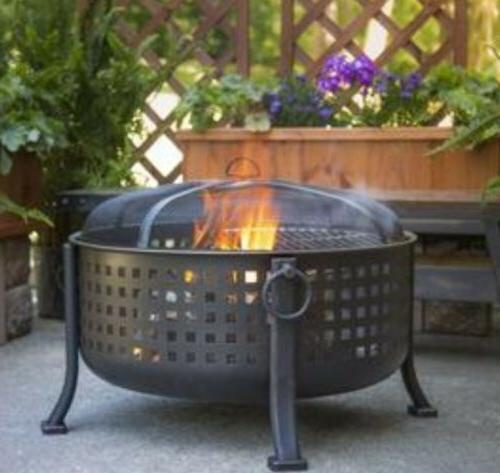 extra deep round fire ring outdoor firepit