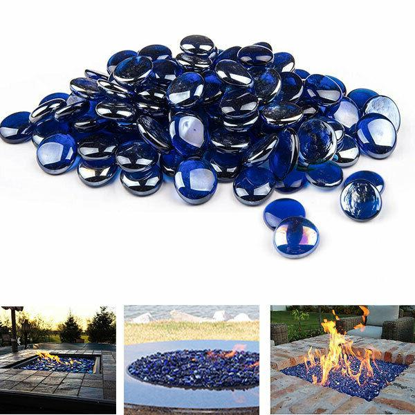 Fire pit glass beads Cobalt Blue Premium Large Tempered Fire
